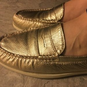 Sperry Metallic penny loafers